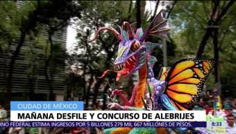 Alebrijes monumentales desfilarán en calles de CDMX