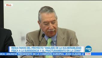 Cenapred y UNAM presentan análisis de vulnerabilidad de fracturamientos en CDMX
