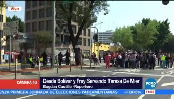 Padres de familia bloquean Fray Servando Teresa de Mier y Bolívar, CDMX