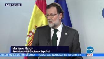 Rajoy afirma que medidas ante Cataluña serán acordadas con otros partidos