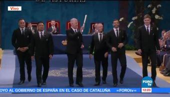 """Entregan Premio Princesa de Asturias a equipo de Rugby """"All Blacks"""""""