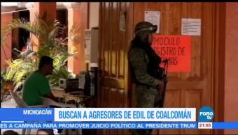 Buscan a agresores de edil de Coalcomán, Michoacán