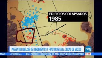 UNAM presenta análisis de hundimientos y fracturas en la CDMX