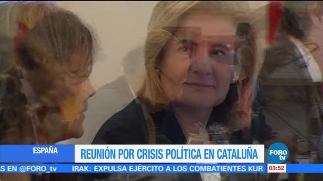 Inicia Reunión por crisis en Cataluña
