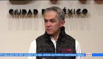 Mancera ofrece nuevo balance sobre reparación de fugas de agua tras sismo