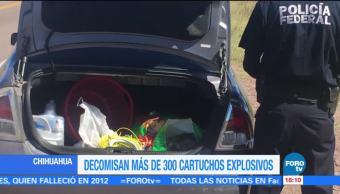 Policía Federal decomisa material explosivo en Chihuahua