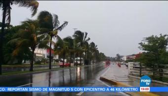 Prevén lluvias intensas en Yucatán y Quintana Roo