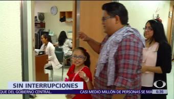 Sale del hospital niña sometida a cirugía de corazón durante sismo 7S