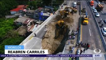 Reabren dos carriles del Paso Express de Cuernavaca, Morelos