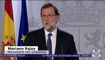 Gobierno español intervendrá autonomía de Cataluña