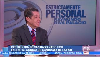 Polémica destitución de Santiago Nieto
