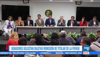 Senadores solicitan objetar remoción de titular de la Fepade