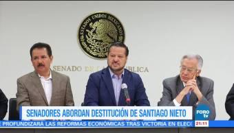 Senadores abordan destitución de Santiago Nieto