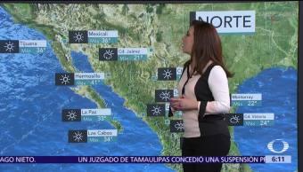 Seguirá bajando la temperatura en gran parte del país por frente frío