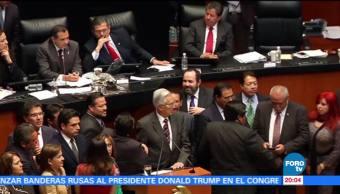 Oposición revienta sesión en el Senado por caso Fepade