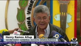 Se divide la alianza que agrupa a los opositores en Venezuela