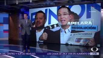 Ricardo Anaya afirma que ganó caso contra 'El Universal'