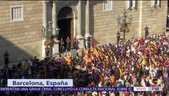 Carles Puigdemont suspende mensaje ante medios sobre futuro de Cataluña