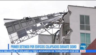 Detienen a responsable de obra de edificio que colapsó por sismo