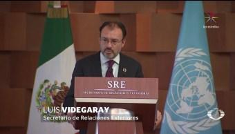 Videgaray revira acusación de Trump contra México