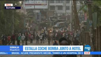 Estalla coche bomba junto a hotel en Mogadiscio, Somalia