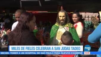Miles celebran a San Judas Tadeo en la Ciudad de México