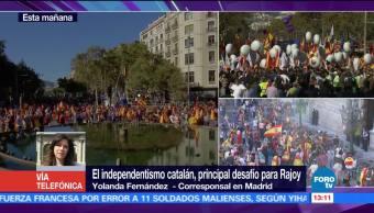 Rajoy dice en Twitter que catalanes hablarán con libertad y garantías