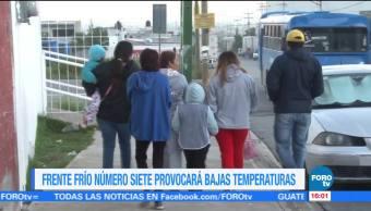 Coahuila reporta bajas temperaturas por frente frío
