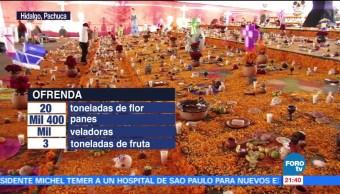 Ofrenda monumental en Pachuca rompe récord