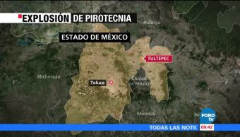 Se registra explosión de pirotecnia en Tultepec, Estado de México