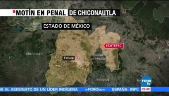 Se reporta motín en el penal de Chiconautla, Estado de México