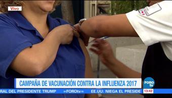 Inicia campaña de vacunación contra la influenza en la CDMX