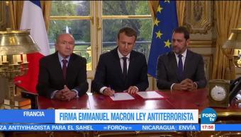 Macron firma polémica ley antiterrorista en Francia
