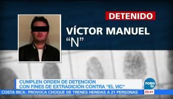 Cumplimentan orden de detención provisional con fines de extradición contra 'El Vic'