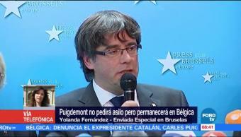 Puigdemont permanecerá en Bélgica; no pedirá asilo