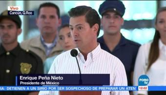 Peña Nieto inaugura la terminal 4 del Aeropuerto de Cancún, Quintana Roo