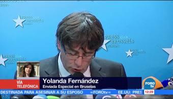 Carles Puigdemont se pasea libremente en calles de Bélgica