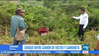Choque deja cuatro jornaleros heridos en Sinaloa