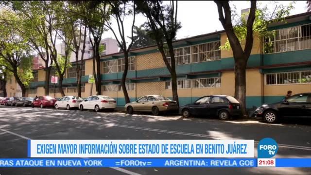 Exigen información sobre escuela afectada por el sismo en la CDMX