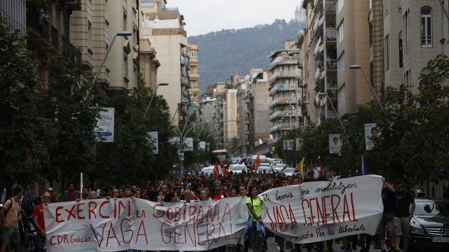 realizan huelga general cataluna españa referendum