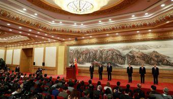 jinping presenta miembros comite permanente politburo