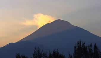 la actividad del volcán popocatépetl twitter