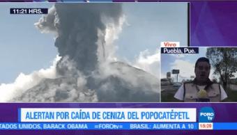 Alerta Caída Ceniza Volcán Popocatépetl Autoridades Protección Civil Puebla