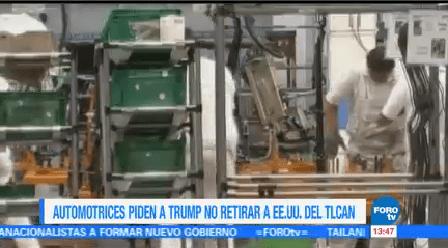 Automotrices Llaman Trump Respetar Tlcan