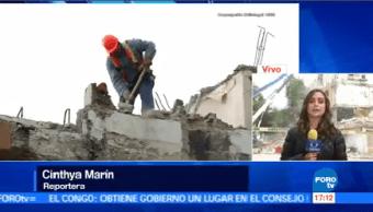 Avanza Demolición Edificio Concepción Béistegui Maquinaria Pesada
