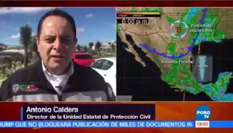 Bajas Temperaturas Vientos Helados Frente Frío Zacatecas