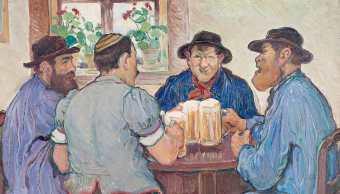 imagen-ilustrativa-cofrades-compartiendo-tarro-cerveza-fria-cantina-europa