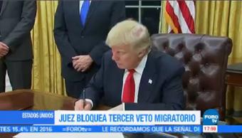 Bloquean Tercer Veto Migratorio Trump Juez Federal De Hawaii