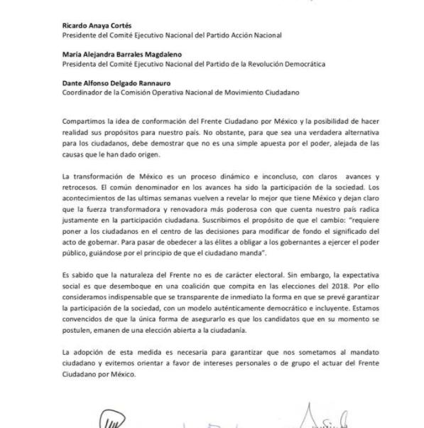 moreno zavala y aureoles piden eleccion abierta frente ciudadano