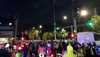 Casi 2 mil ciclistas realizan el paseo nocturno